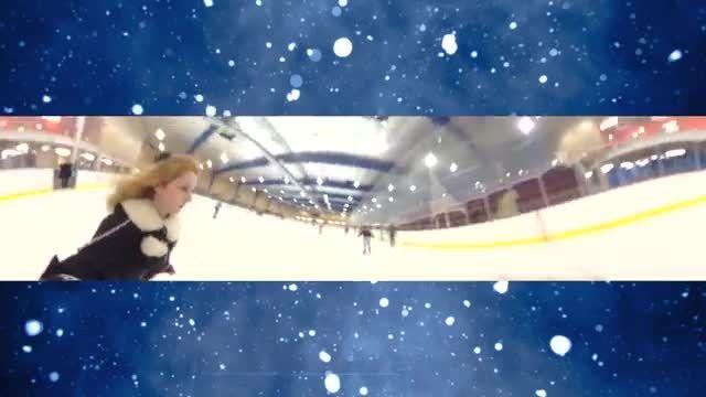 اسکیت روی یخ با لباسهای عروسکی
