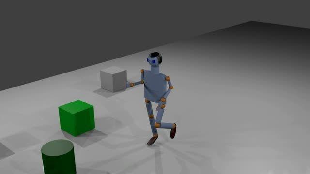 شبیه سازی دویدن انسان