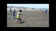 تمرین تیم پرشین در ساحل بندر انزلی