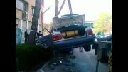 تصادف در خیابان بزرگمهر اصفهان