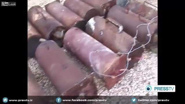 تصاویر خنثی کردن بمب های داعش توسط ارتش سوریه