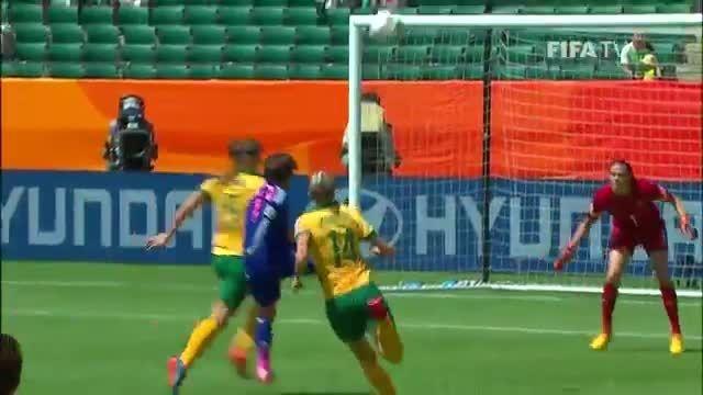 بازی : ژاپن 1 - 0 استرالیا (جام جهانی زنان 2015 کانادا)