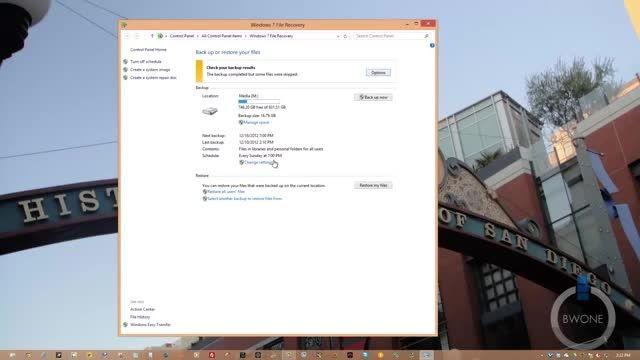 بکاپ گیری در ویندوز 8