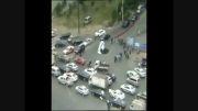 سقوط خودرو در داخل یک چاله در شرق چین