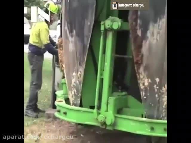 ابزاری برای انتقال درختان بدون قطع کردن آنها