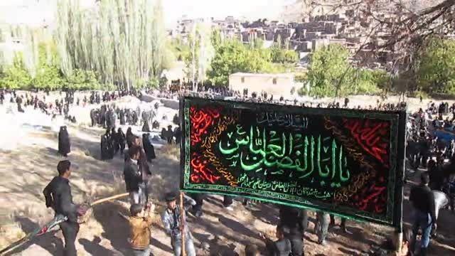 دسته های عزاداری روز عاشورا 94 روستای بقمچ - مزار شهدا