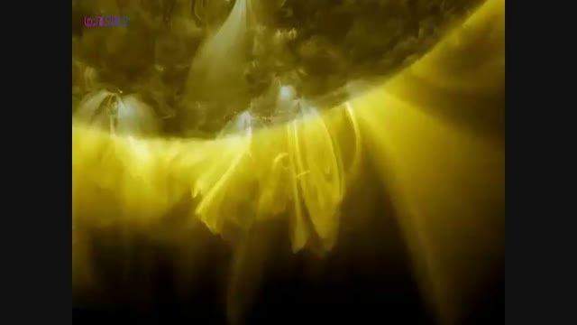 فیلمی از خورشید که هرگز ندیده اید!!