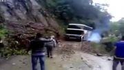 حادثه برای اتوبوس مسافربری