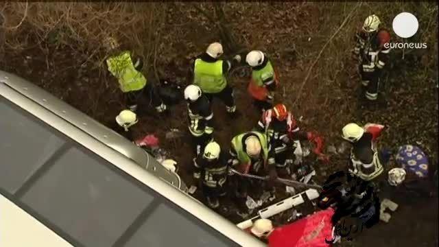 پنج کشته در سانحه تصادف اتوبوس در بلژیک