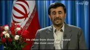 پیام کریسمس دکتر احمدی نژاد پخش شده از شبکه 4 انگلیس