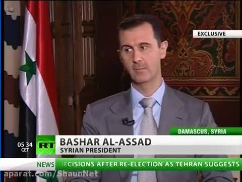10برترین مصاحبه  خبرگزار روسیه 5 بشار اسد از سوریه