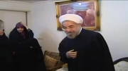دیدار دکتر روحانی با خانواده شهید مفتح...