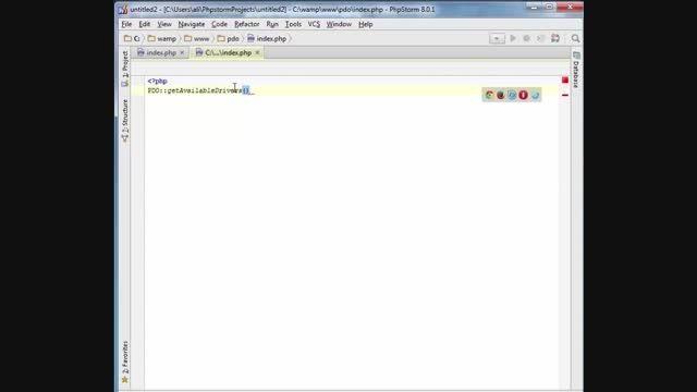 آموزش قسمت اول PDO. نحوه اتصال به بانک اطلاعاتی mysql