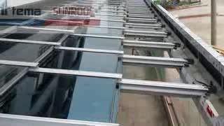 سقف متحرک ، پارتیشن شیشه ای ،بالکنی1:19 سقف شیشه ای متحرک ریموت دار آرمان جام تهران