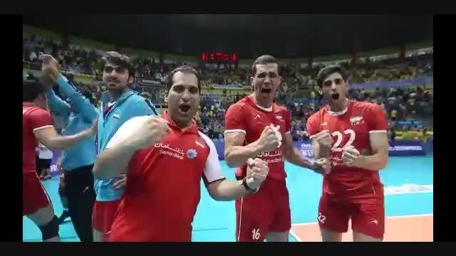 پیروزی ایرانیان والیبالیست در برابر روسیه دمتون گرمم