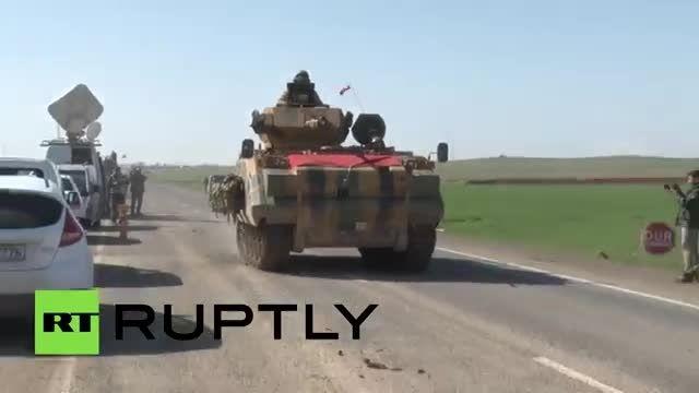 تجاوز ترکیه با تجهیزات سنگین به شمال سوریه