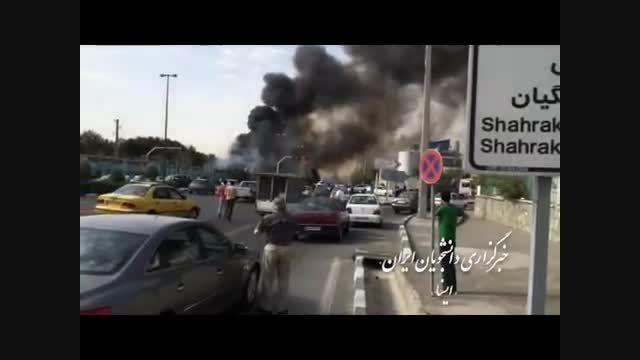 سقوط یک فروند هواپیما در شهرک آزادی تهران