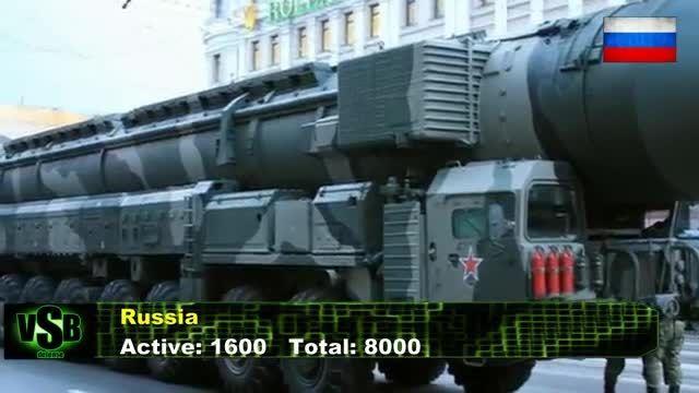 مقایسه سلاح های هسته ای آمریکا و روسیه 2015