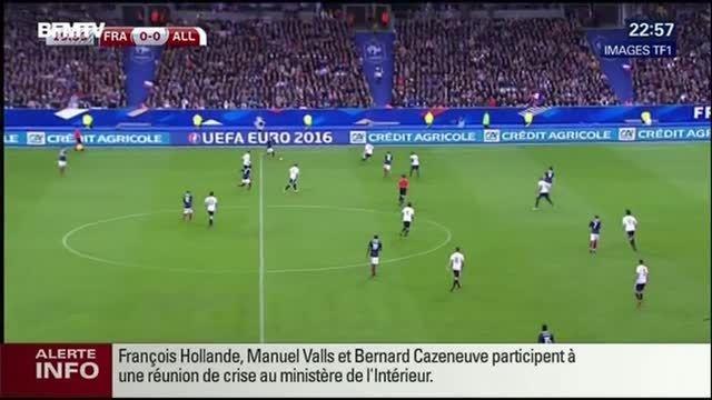 لحظه وقوع انفجار تروریستی وسط بازی آلمان و فرانسه