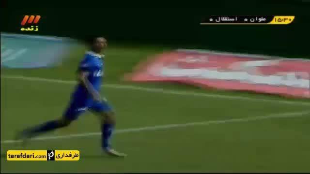 خلاصه بازی ملوان انزلی 1 - 1 استقلال تهران