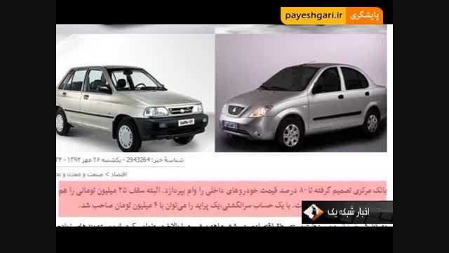 اعطای وام ، 80 درصد قیمت خودرو