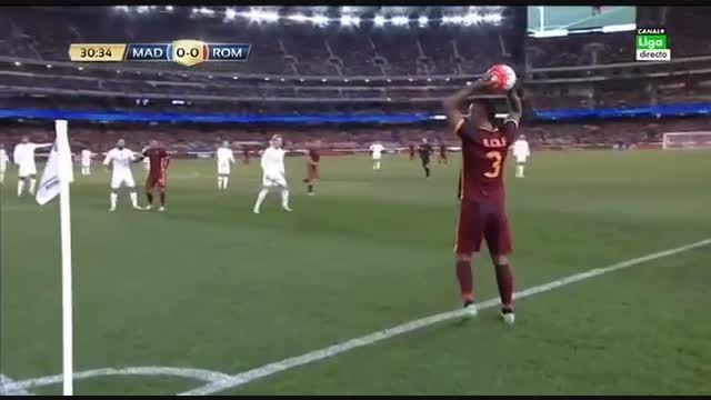 نیمه اول بازی:رئال مادرید 0(6)-(7)0 آ اس رم {دوستانه}