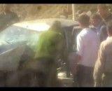 تصادف اتوبوس و سواری در جاده هراز