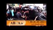 دسته عزاداری و بر افراشته شدن پرچم امام حسین در عربستان