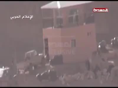 لحظه انهدام پاسگاه مرزی عربستان توسط حوثی ها در عربستان