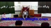 حضور حاج منصور ارضی در مسجد روستا