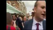 حمله تخم مرغی به رهبر حزب انگلیس