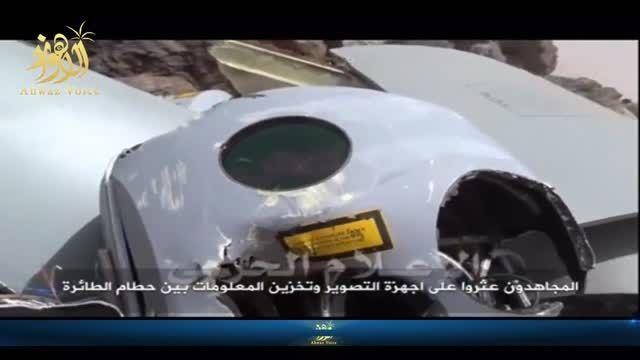 فیلم سرنگونی پهپاد جاسوسی عربستان در یمن