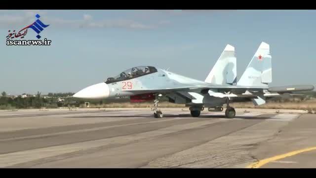 تصاویر جنگنده های روسی در فرودگاه های سوریه