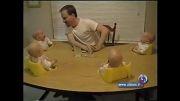 خنداندن کودکان توسط پدرشان