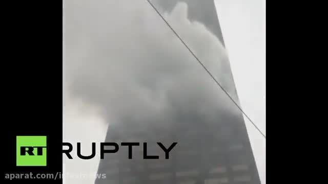 آتش در طبقه پنجاهم برج 100 طبقه در شیکاگو