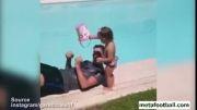 چالش سطل آب : گرت بیل همراه دخترش