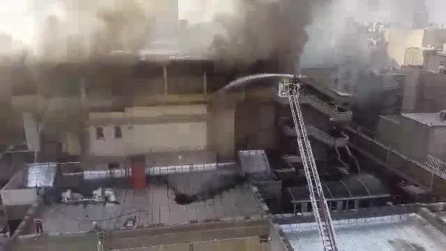 فیلم آتش سوزی تالار بزرگ وزارت کشور