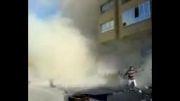 سقوط آپارتمان 6 طبقه در خیابان منصور تبریز