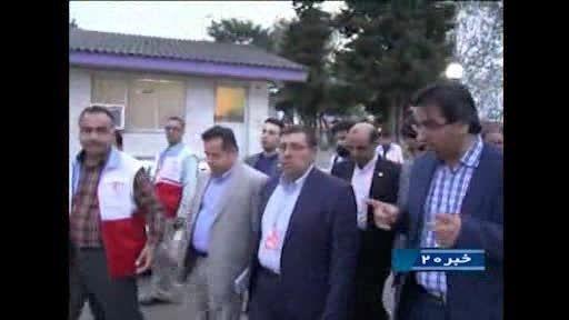 حضور ریاست محترم جمعیت هلال احمر کشور در استان گیلان