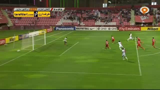 خلاصه بازی الاهلی امارات 3-2 تراکتورسازی