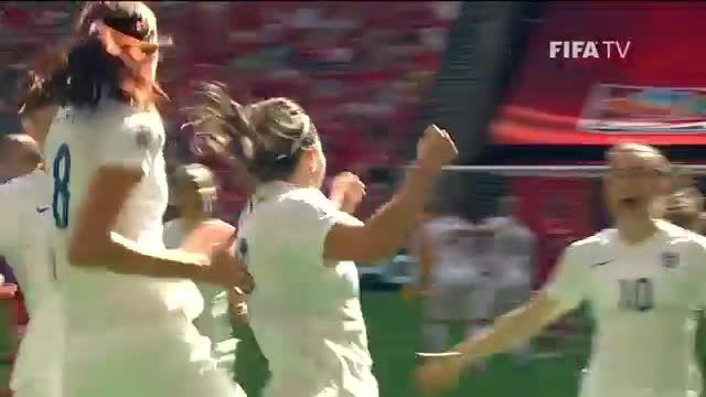 بازی : کانادا 1 - 2 انگلیس (جام جهانی زنان 2015 کانادا)