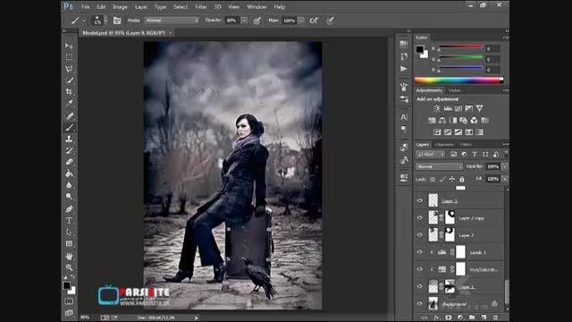 استفاده از نور و سایه برای افکت در تصاویر