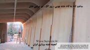 ساخت گام به گام خانه چوبی - روز 53 - تیر عرضی طاق