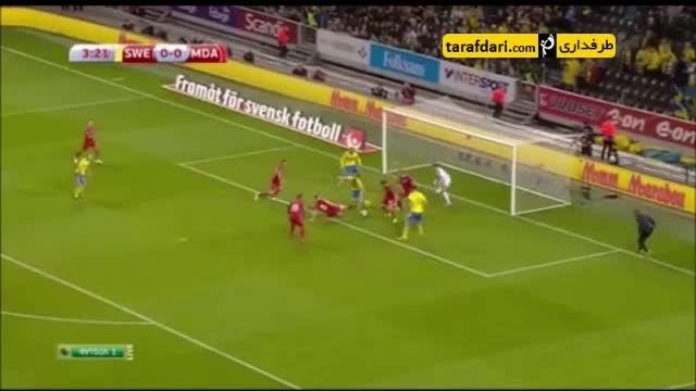 خلاصه بازی سوئد 2-0 مولداوی (گلزنی زلاتان)