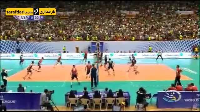گزارشی از پیروزی تیم ملی والیبال ایران برابر آمریکا