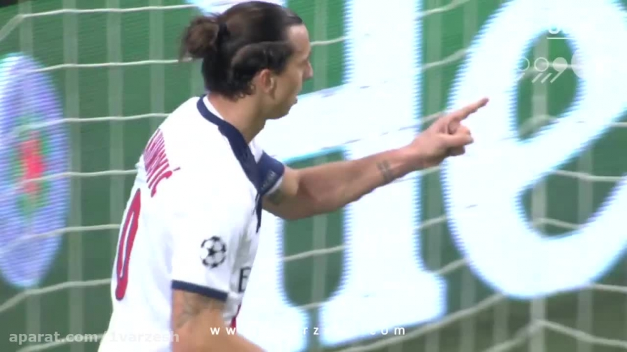 لحظه جادویی زلاتان در لیگ قهرمانان اروپا