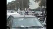 الاغ سواری در خیابان در اعتراض به گرانی بنزین 
