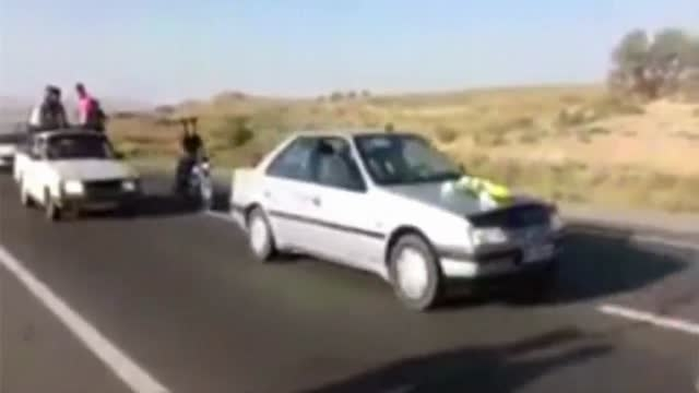 حادثه به دنبال  ماشین عروس