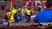 تلاش برای نجات حادثه دیدگان انفجار بوستون