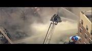 ویدیو؛ وقوع انفجار و ریزش ساختمانی در نیویورک